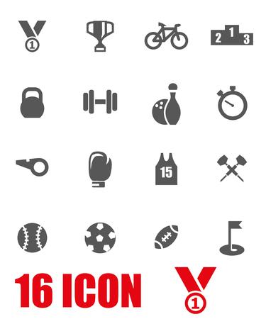 Ilustración de Vector grey sport icon set.  - Imagen libre de derechos