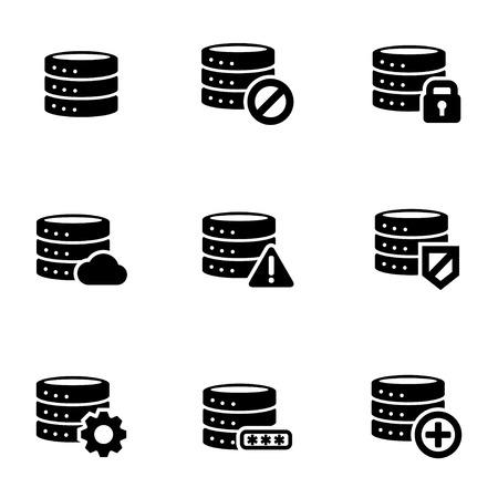 Database icon set image illustration: Royalty-free vector
