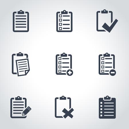 Illustration pour Vector black check list icon set. Check List Icon Object, Check List Icon Picture, Check List Icon Image - stock vector - image libre de droit