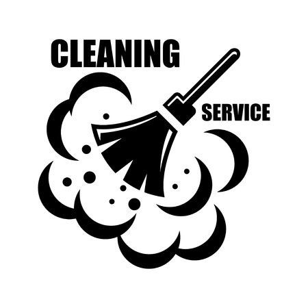 Illustration pour Vector cleaning service icon on white background. Cleaning service emblems, labels and designed elements - image libre de droit