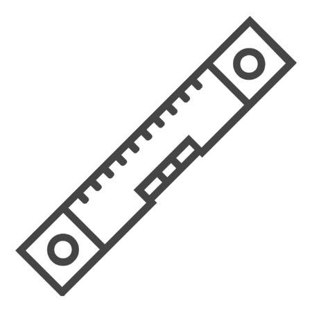 Illustration pour Carpentry level line icon on white background - image libre de droit