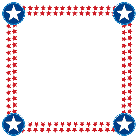 USA flag decoration frame with empty space for your text or images.