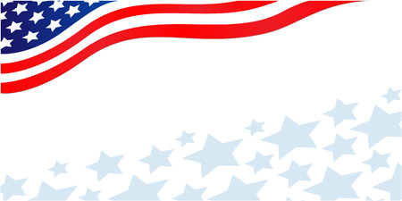 Illustration pour American flag banner with stars - image libre de droit