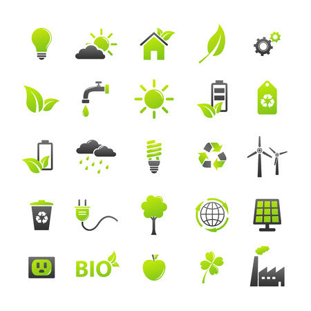 Illustration for Ecology icons set - Royalty Free Image