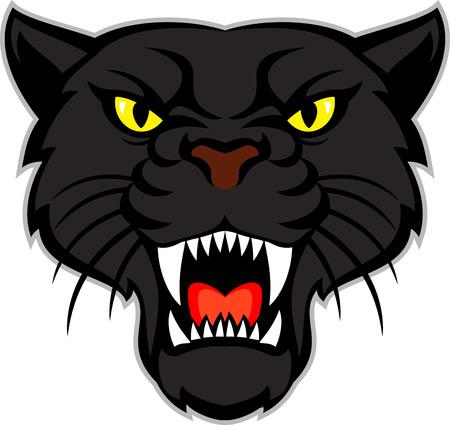 Ilustración de black panther head - Imagen libre de derechos