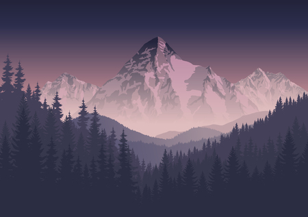 Illustration pour morning mountains landscape - image libre de droit
