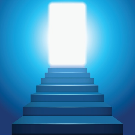 Stairway to heaven in the light.