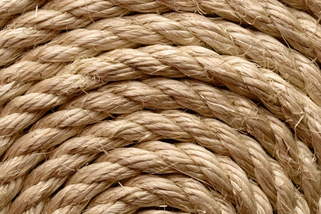 Backgrounds and textures: sisal rope arranged as background, close-up shot