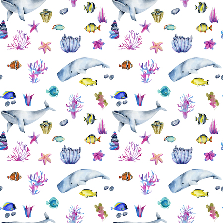 Photo for Seamless pattern with watercolor - Royalty Free Image