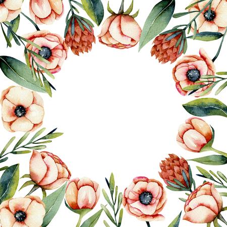 Foto de Watercolor and spring pastel flowers - Imagen libre de derechos