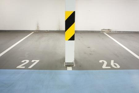Underground garage - parking lot in a basement of house