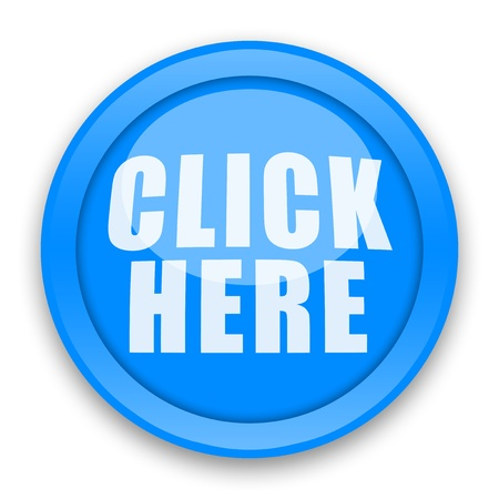 Click Here glossy button over white background