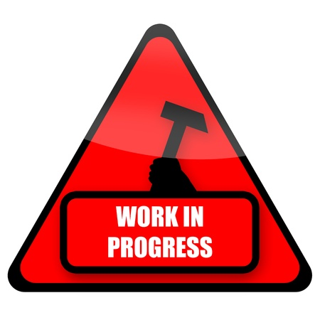 Work In Progress red sign illustration isolated on white background