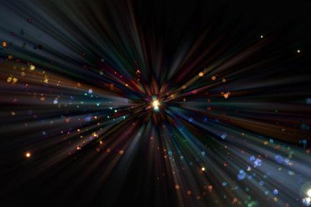 Foto de Abstract background of light particles and synchrotron radiation - Imagen libre de derechos
