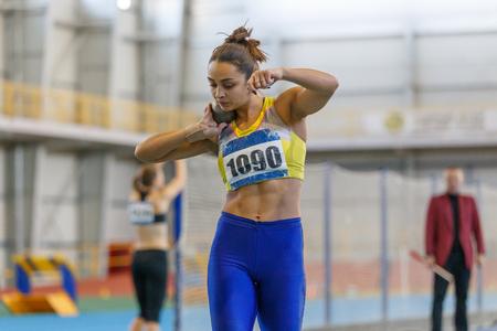 Foto für Professional female athlete at shot put sector - Lizenzfreies Bild