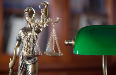 Foto für Legal office of lawyer. legal model of the goddess of justice - Lizenzfreies Bild