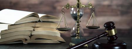 Photo pour Law and Justice theme. Gavel of the Judge - image libre de droit