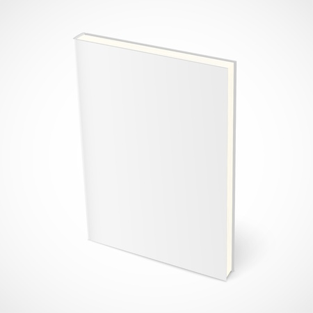 Illustration for Empty standing book with white cover.  - Royalty Free Image