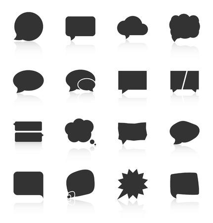 Illustration pour Set of speech bubble icons on white background. Vector illustration - image libre de droit