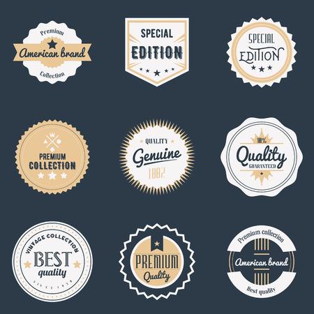 Ilustración de Premium quality labels set. - Imagen libre de derechos