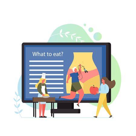Illustration pour Nutritionist concept vector flat style design illustration - image libre de droit