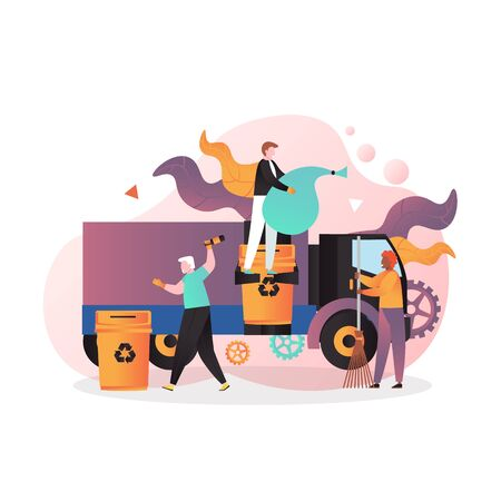Illustration for Cleaning street vector concept for web banner, website page - Royalty Free Image