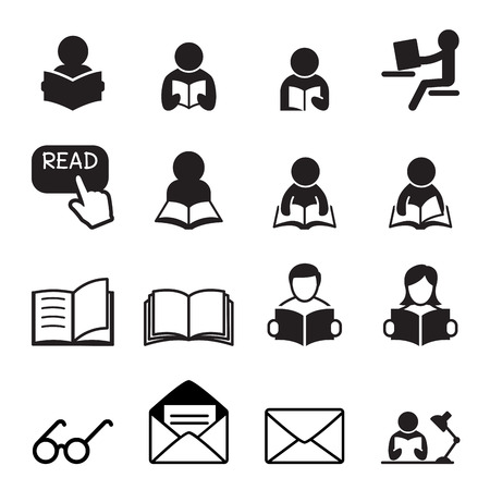 Illustration for Reading icon - Royalty Free Image