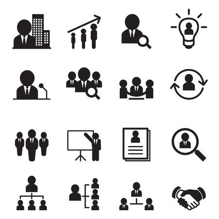 Illustration for Human resource management icon set - Royalty Free Image