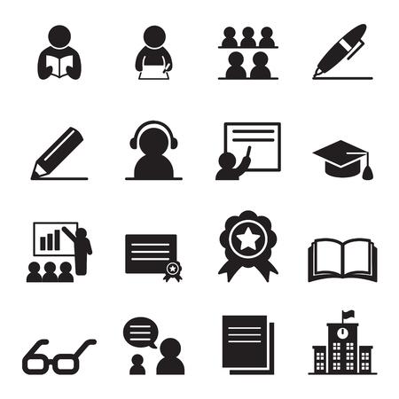Illustration pour Learning icon set - image libre de droit