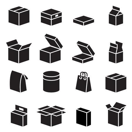 Illustration pour Silhouette box  packaging icon - image libre de droit
