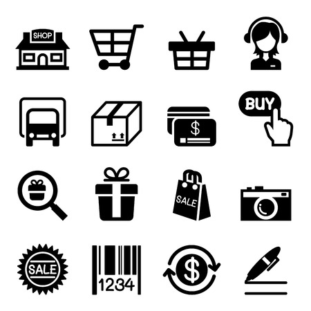 Illustration pour Online Shopping icon - image libre de droit