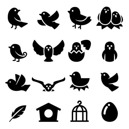 Illustration pour Bird Silhouette icon - image libre de droit