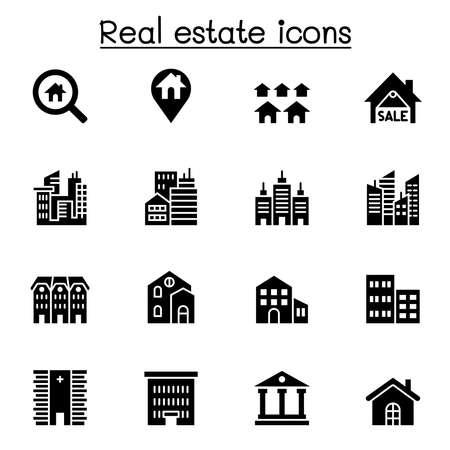 Illustration pour Real estate, building icon set vector illustration graphic design - image libre de droit