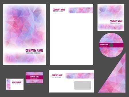 Foto de Corporate identity for company or event  template for business stationery  - Imagen libre de derechos