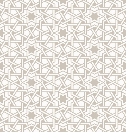 Illustration pour Tangled modern pattern, based on traditional oriental arabic patterns. Seamless vector background. Plain colors - easy to recolor. - image libre de droit