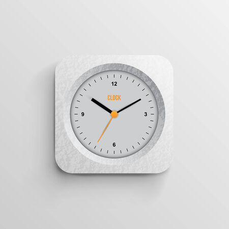 time for design concept clock closeup on background with black words