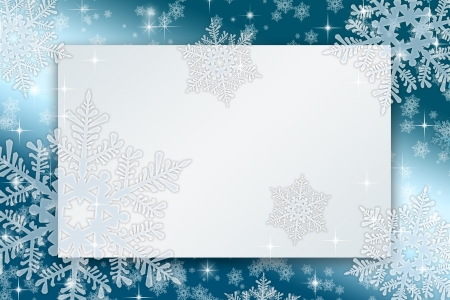 Frameworks for christmas cards with snowflakes and stars
