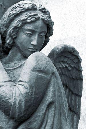 sculpture of angel in St. Petersburg, Russia