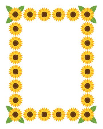 Ilustración de Vertical frame with flowers. Vector illustration. - Imagen libre de derechos