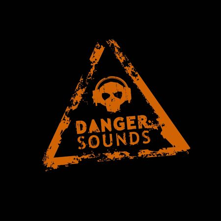 Danger sound rubber stamp