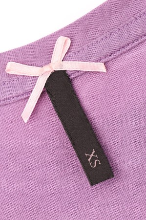 close-up of clothing label