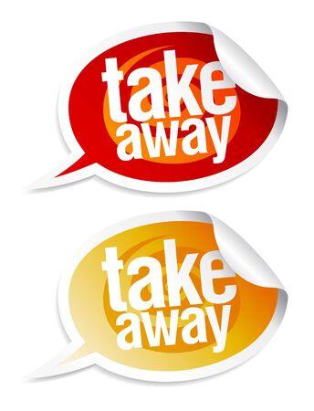 Illustration pour Take away stickers in form of speech bubbles. - image libre de droit