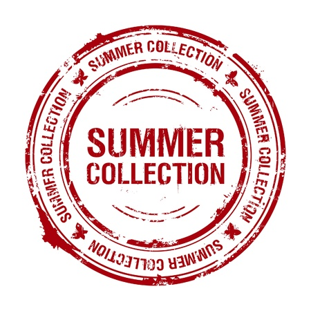summer collection rubber stamp