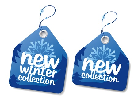 New winter collection labels.