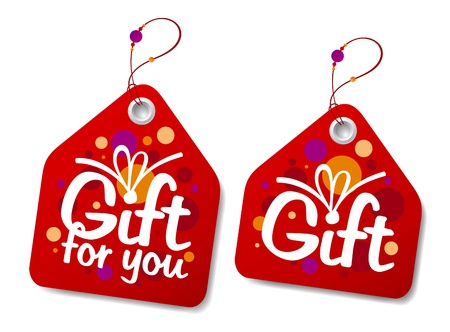 Gift collection labels.