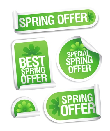Best spring offer stickers set.