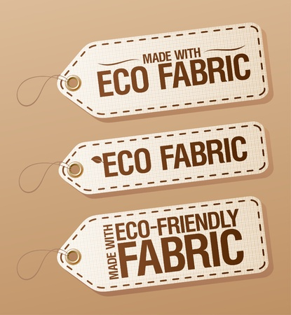 Made With Eco-friendly Fabric labels collection