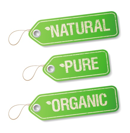 Natural, Pure, Organic labels collection