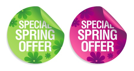 Special spring offer stickers set