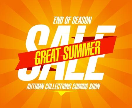 Great summer sale design template
